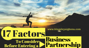 Business Partnership: 17 Factors to Consider Before Entering One