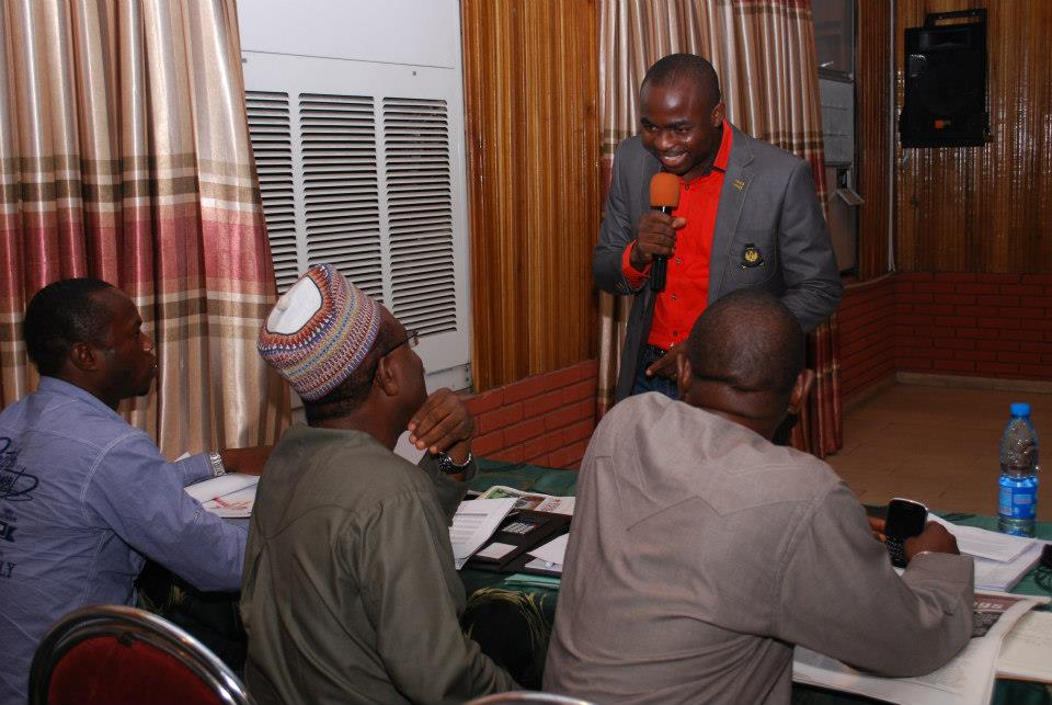 Kingsley Aigbona with Senior Managers of Masters Energy Oil & Gas