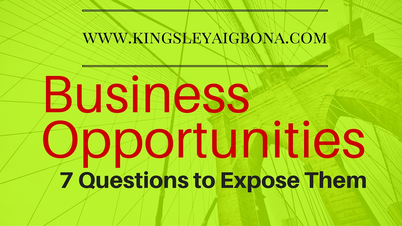 business opportunities: 7 questions to expose them