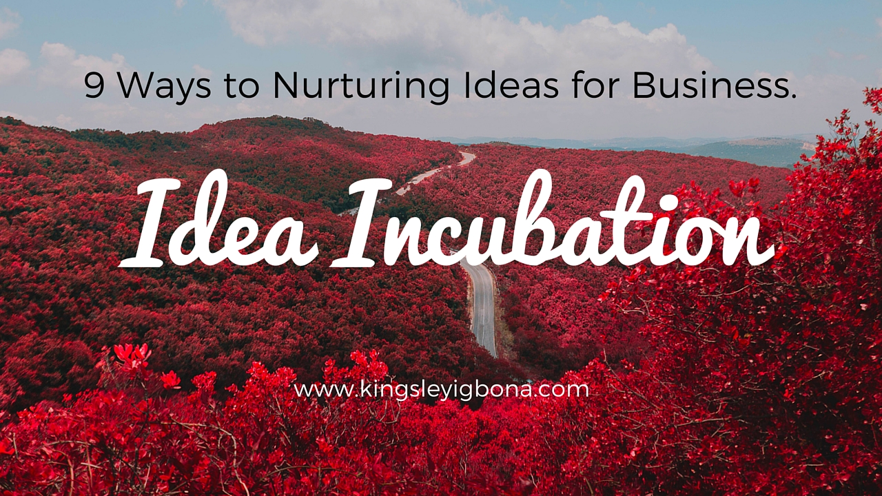 Idea Incubation: 9 Ways to Nurturing Ideas for Business
