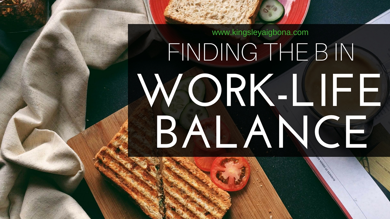 Finding the B in Work-Life Balance