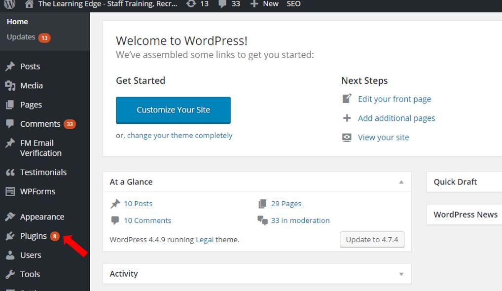 plugins wordpress website/blog